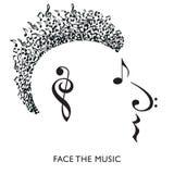 Una cara musical creativa en perfil stock de ilustración