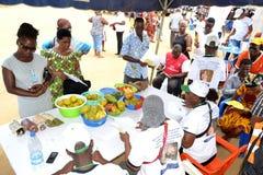 Una caravana para aumentar la conciencia de buenas prácticas alimenticias Fotos de archivo