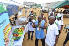 Una caravana para aumentar la conciencia de buenas prácticas alimenticias Fotografía de archivo