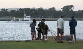 Una carne asada de la melcocha, parque del punto de la puesta del sol, bahía de la misión Foto de archivo
