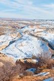 Una carretera escénica del desierto Fotografía de archivo