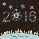 Una carta da 2015 nuovi anni illustrazione vettoriale