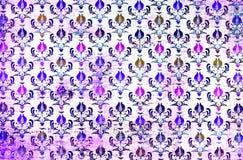 Una carta da parati colourful del damasco del modello di ripetizione Fotografie Stock