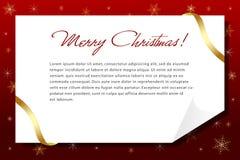 Una carta de la Navidad Foto de archivo libre de regalías