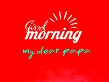 Una cartolina d'auguri del papà di buongiorno, vettore illustrazione di stock