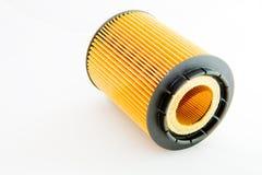 Una cartuccia di filtro isolata su una priorità bassa bianca Fotografia Stock