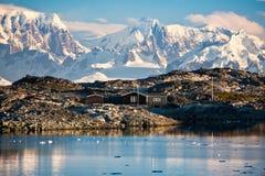 Una casa in Antartide Fotografia Stock