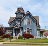 Una casa blu Fotografia Stock Libera da Diritti