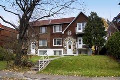 Una casa canadiense Foto de archivo libre de regalías