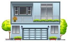 Una casa con el balcón libre illustration