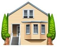 Una casa con le piante da appartamento Fotografia Stock Libera da Diritti