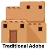 Una casa de adobe tradicional ilustración del vector