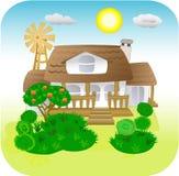 Una casa de campo stock de ilustración