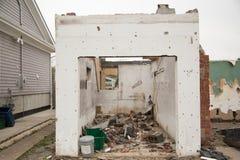 Una casa demolida foto de archivo libre de regalías
