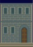 Una casa di due piani, retro Fotografia Stock Libera da Diritti
