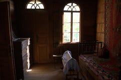 Una casa en la cual fue vivido por los habitantes de Georgia de la diecinueveavo edad Fotos de archivo libres de regalías