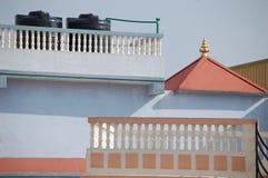 Una casa exterior en Katmandu, Nepal Fotografía de archivo libre de regalías