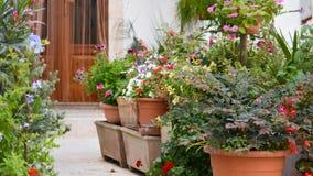 una casa fiorita tradizionale Immagini Stock Libere da Diritti