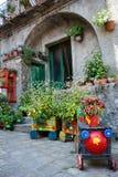 una casa fiorita tradizionale Immagine Stock Libera da Diritti