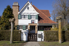 Una casa a Knokke, Belgio Fotografia Stock Libera da Diritti
