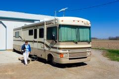 Una casa mobile che visita in Ontario Fotografie Stock Libere da Diritti