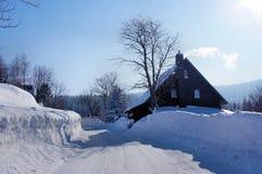Una casa nel Erzgebirge Immagini Stock Libere da Diritti