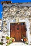 Una casa spagnola con una meridiana, dettaglio fotografia stock libera da diritti