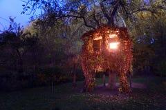 Una casa su un albero Fotografie Stock Libere da Diritti