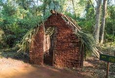 Una casa típica de Guarani en la provincia de Misiones, la Argentina Fotos de archivo libres de regalías