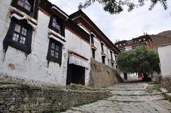 Una casa tibetana Fotografia Stock Libera da Diritti