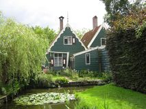 Una casa tipica in Zaanstad fotografia stock libera da diritti