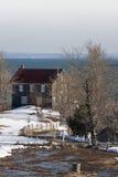 Una casa vieja en Charlevoix fotografía de archivo libre de regalías