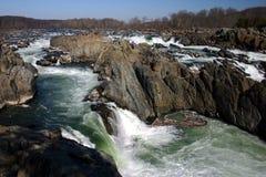 Una cascada ancha y grande Foto de archivo