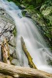 Una cascada de conexión en cascada en la cala de Fallingwater imágenes de archivo libres de regalías