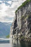Una cascata delle sette sorelle Fotografia Stock