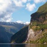 Una cascata delle sette sorelle in Norvegia Immagine Stock Libera da Diritti