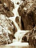 Una cascata delle tre file Fotografie Stock