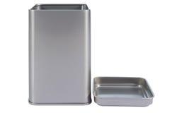Una casella di alluminio Fotografie Stock
