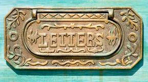 Una casella di lettera del ferro immagini stock
