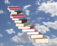 Una cassa della scala dei libri Immagini Stock Libere da Diritti