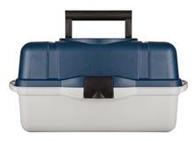 Una cassetta portautensili di plastica isolata sui precedenti bianchi con il ritaglio Immagini Stock