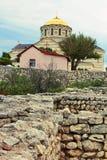 Una catedral de Vladimirskiy está en Sevastopol Foto de archivo