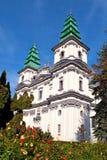 Una catedral-iglesia está en Ternopil (Ucrania) Imagen de archivo