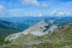 Una catena delle montagne fotografia stock libera da diritti