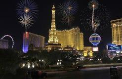 Una celebración en Bellagio y Las Vegas Blvd imágenes de archivo libres de regalías