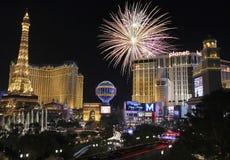 Una celebración en Bellagio y Las Vegas Blvd Fotos de archivo