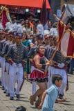 una celebrazione di 197 anni di indipendenza dal Guatemala immagine stock libera da diritti