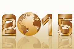 Una celebrazione di 2015 buoni anni Immagini Stock Libere da Diritti