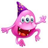 Una celebrazione rosa del mostro del beanie Immagini Stock Libere da Diritti