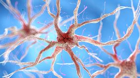 Una cellula nervosa umana sana illustrazione vettoriale